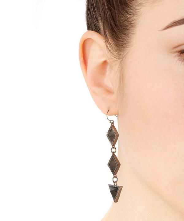 Gold-Plated Odeon Drop Earring