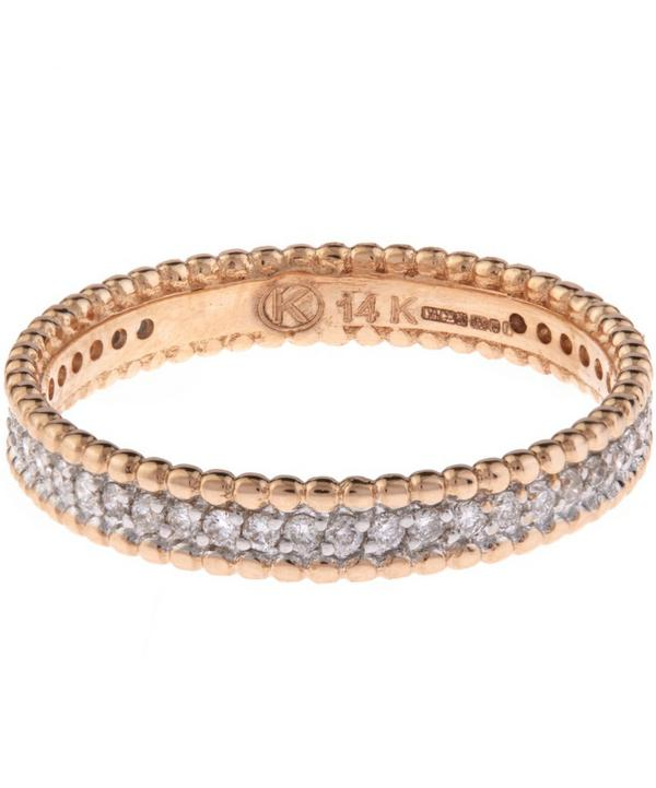 Rose Gold White Diamond Eternity Band