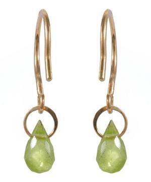 Mini Gold Peridot Drop Earring