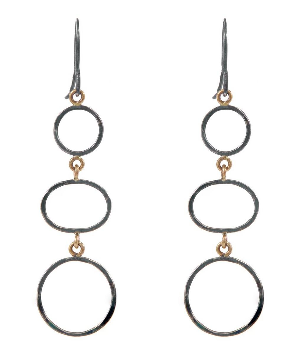Silver Three Drop Earrings