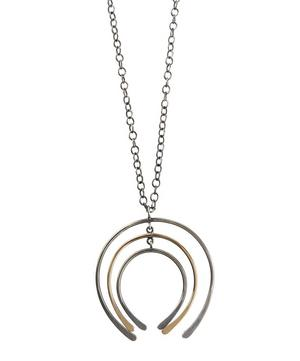 Gold and Silver Graduated Horseshoe Pendant