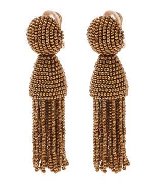 Short Beaded Tassel Earrings