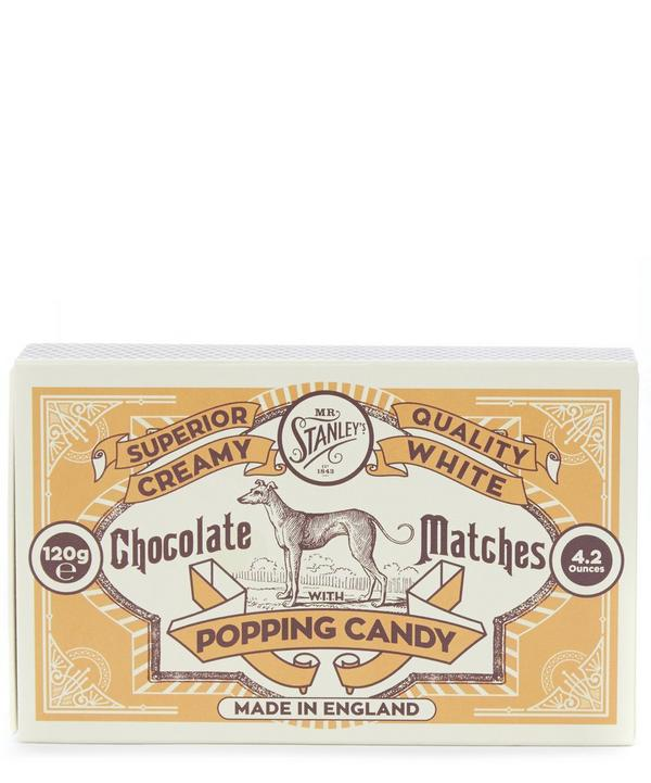 White Chocolate Matches with Popping Candy