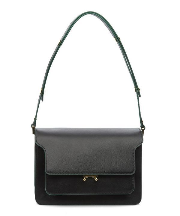 Small Trunk Tri Colour Shoulder Bag
