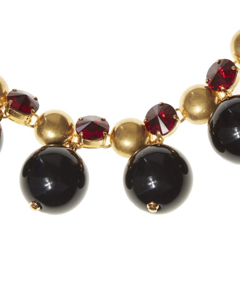 Strass Ball Short Tie Ribbon Necklace