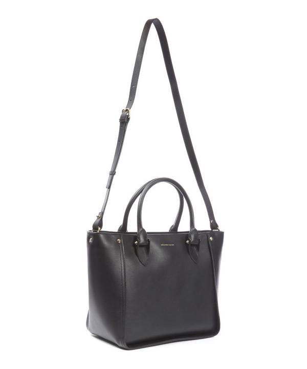Alexander McQueen Leather Inside Out Shopper Tote Bag
