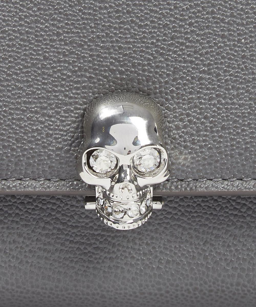 Skull Small Continental Little Stones Calf Wallet