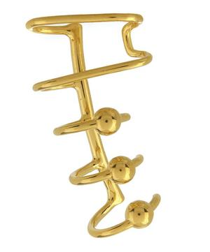 Gold-Plated Orbit Right Ear Cuff
