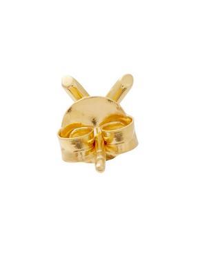 Small Check-Shaped Single Earring