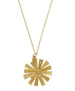 Gold Diamond Starburst Necklace