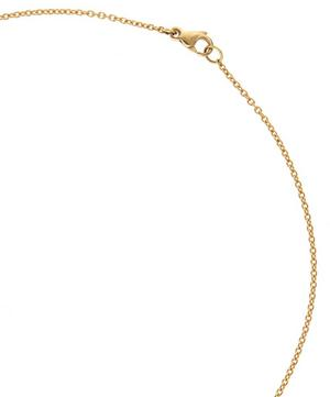 Gold Crescent Halo Fire Opal Necklace