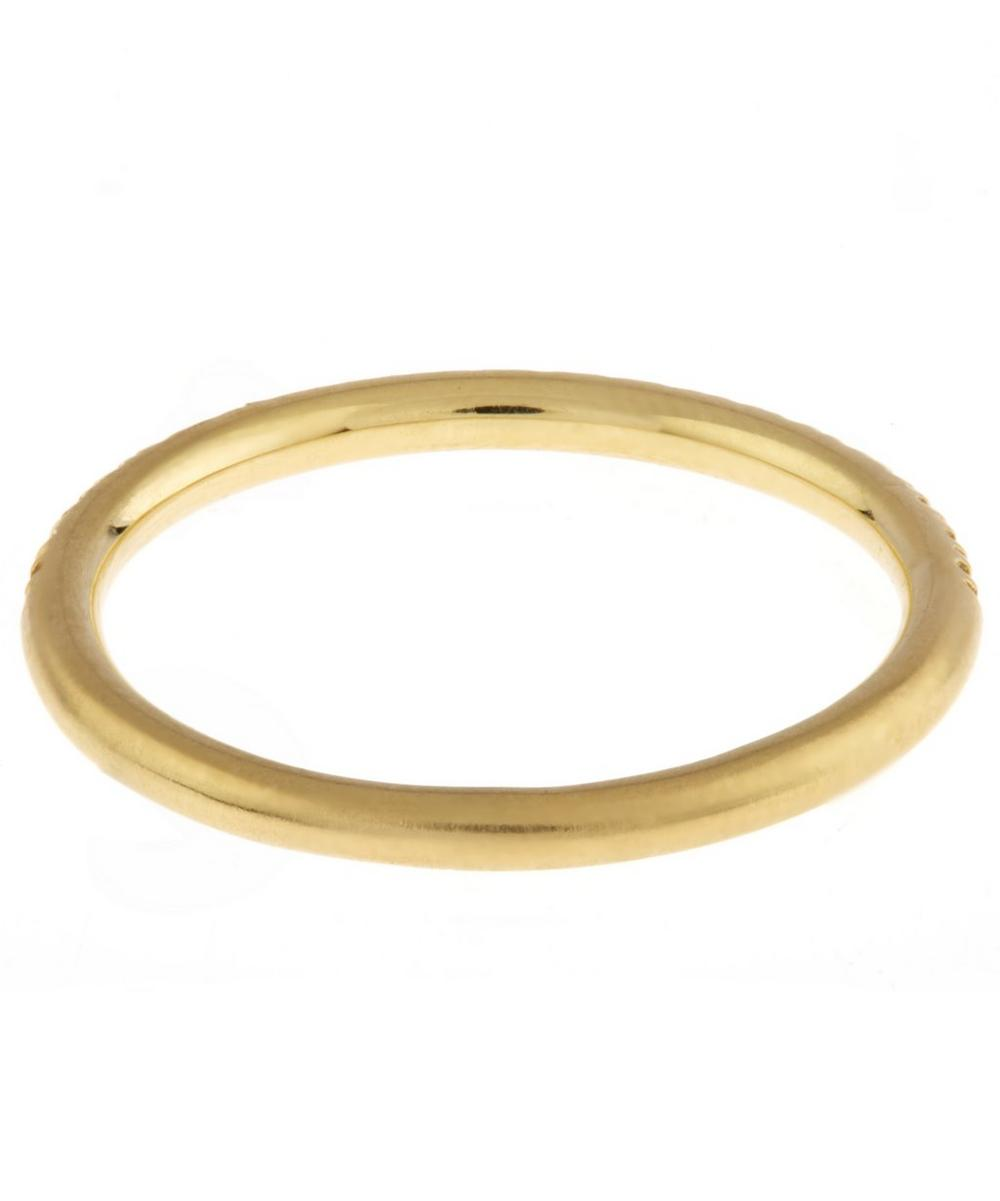 Gold London Diamond Band Ring