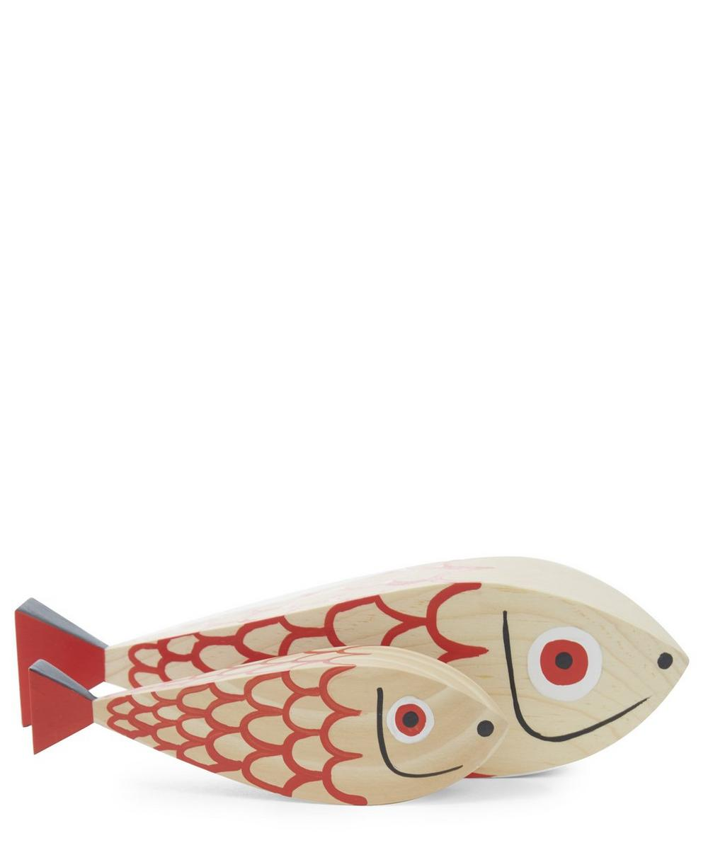 Mother and Child Fish Ornament