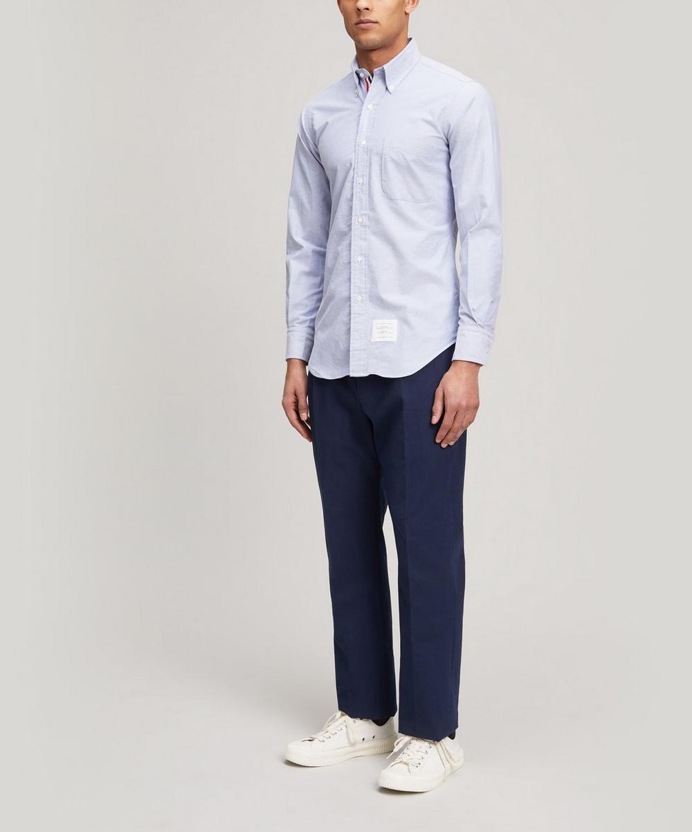 Stripe Placket Oxford Shirt