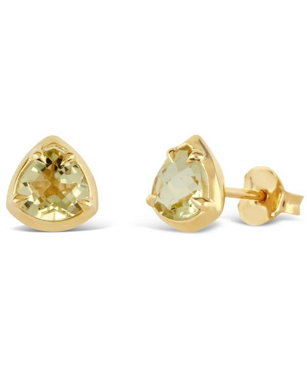 Gold-Plated Lemon Quartz Sheba Studs