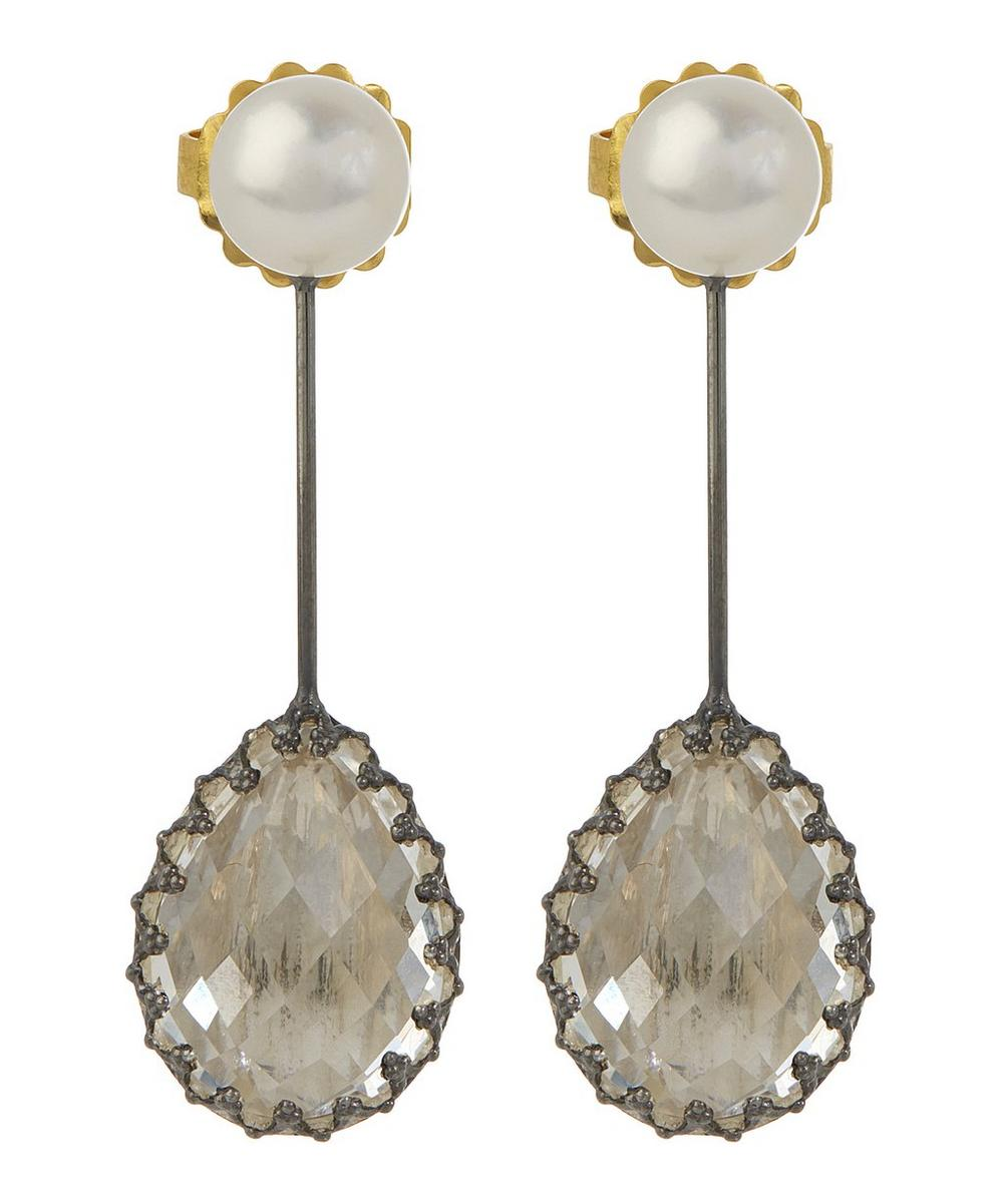 Antoinette Suspended Pear Earrings