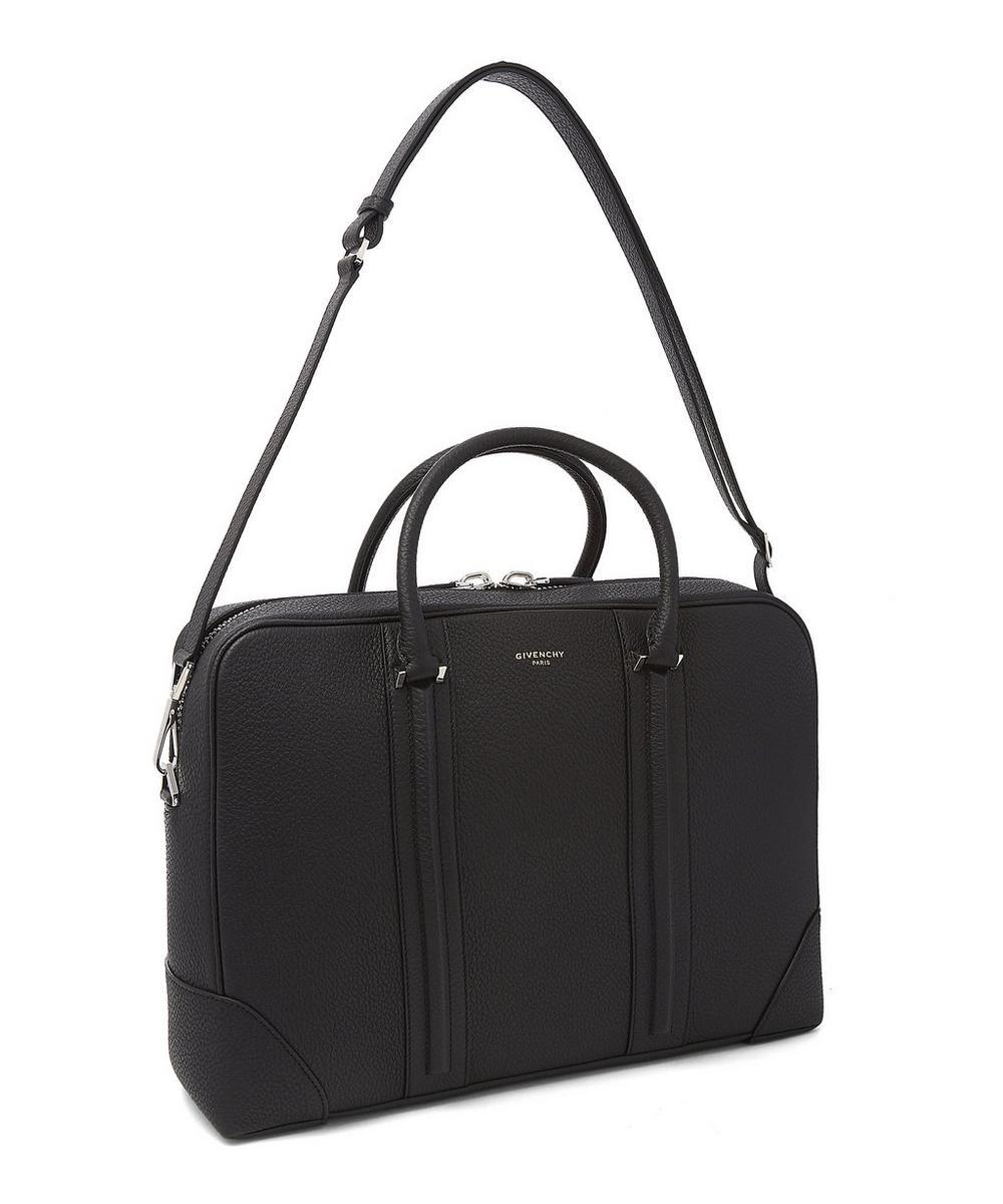 Shoulder Strap Leather Briefcase