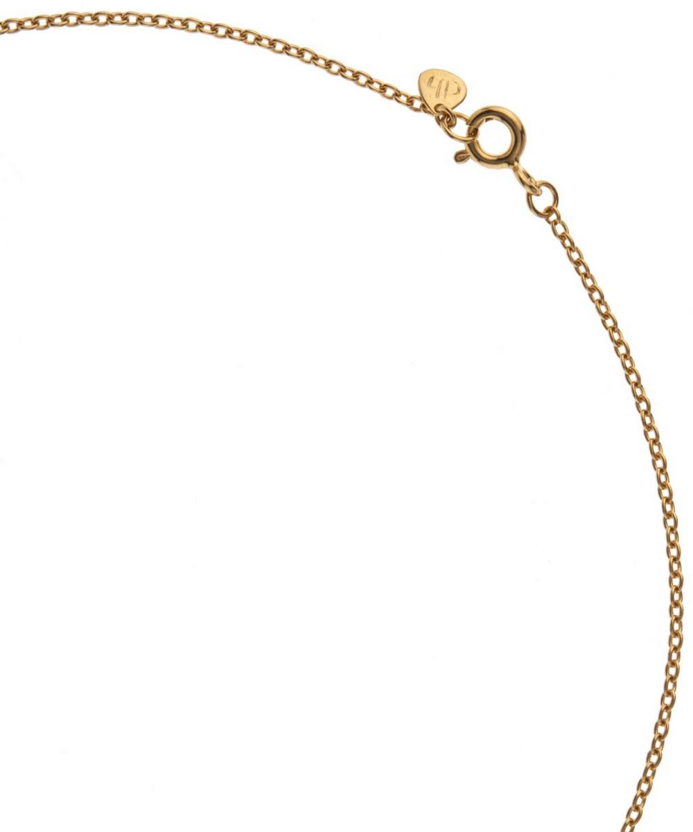 Gold-Plated White Topaz Sheba Five Stone Necklace