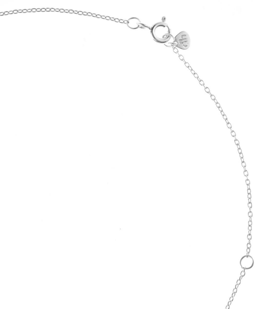 Silver Labradorite Sheba Trillion Pendant