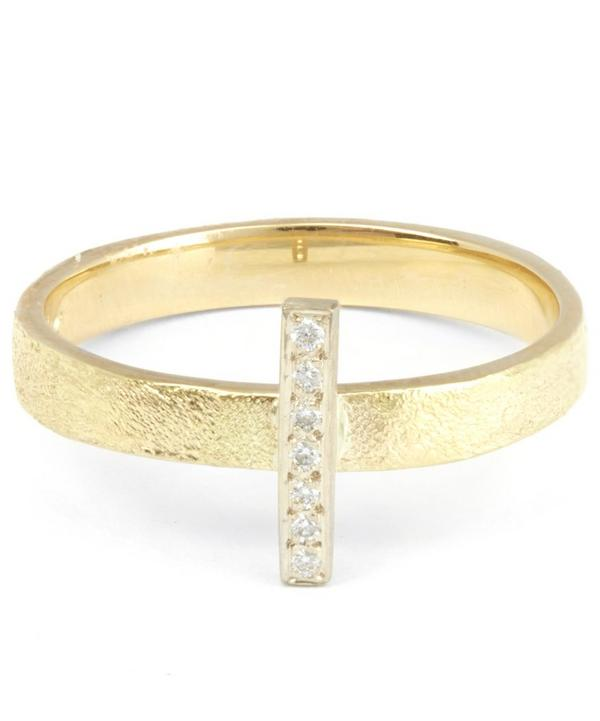 Gold Seven Diamond Combination Ring
