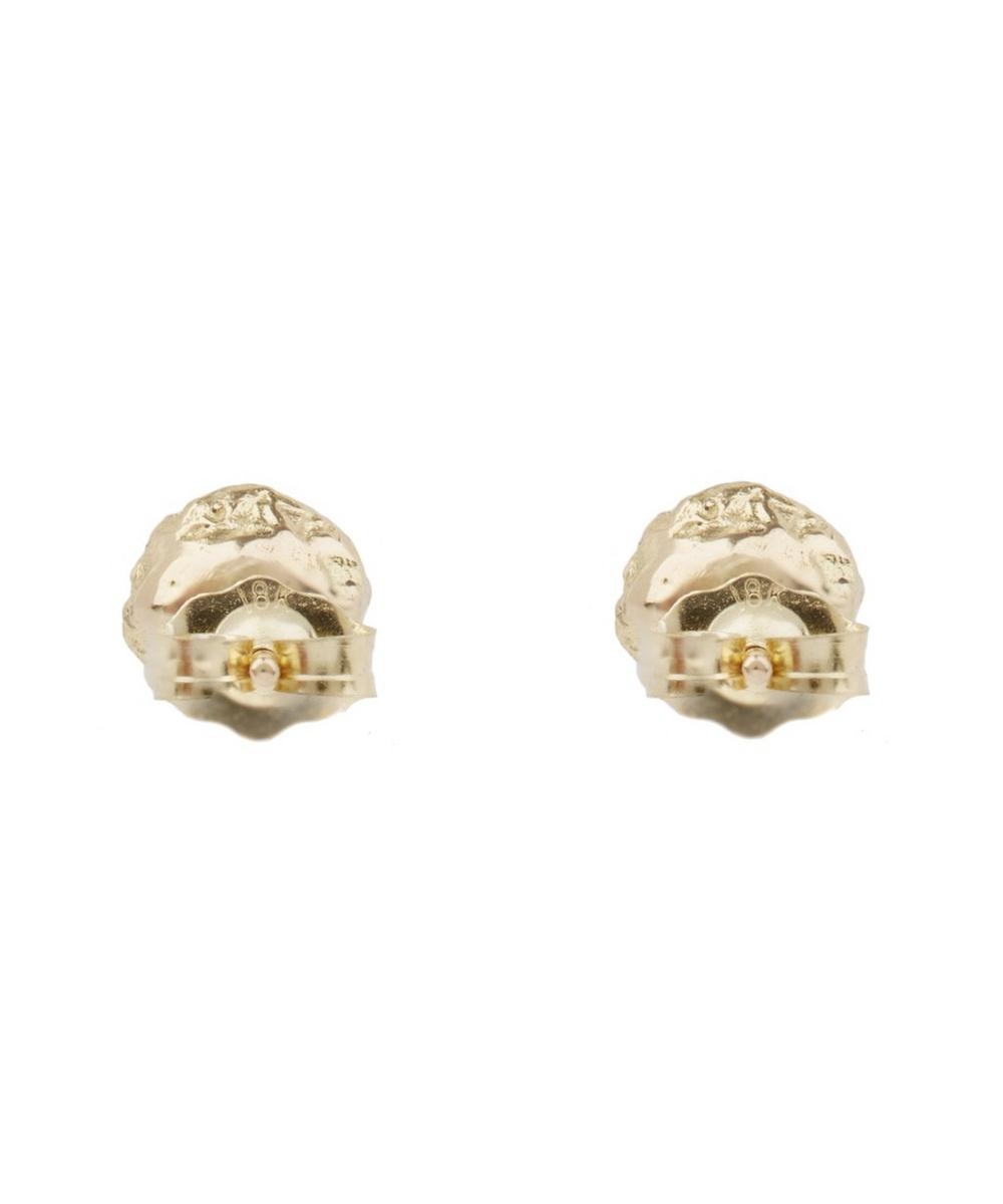 Gold Diamond Cloud Studs