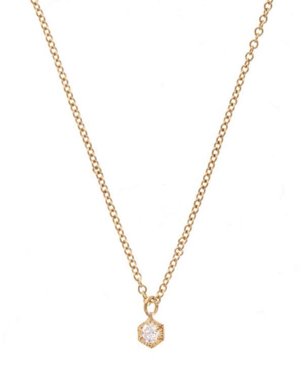 Baby Hexagon Necklace