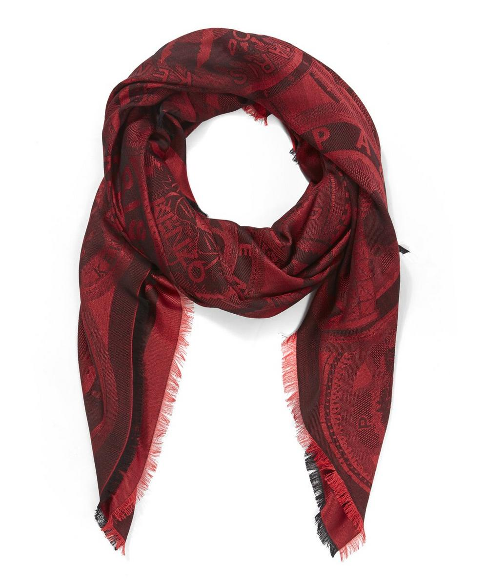 Icons Medallions Printed Scarf