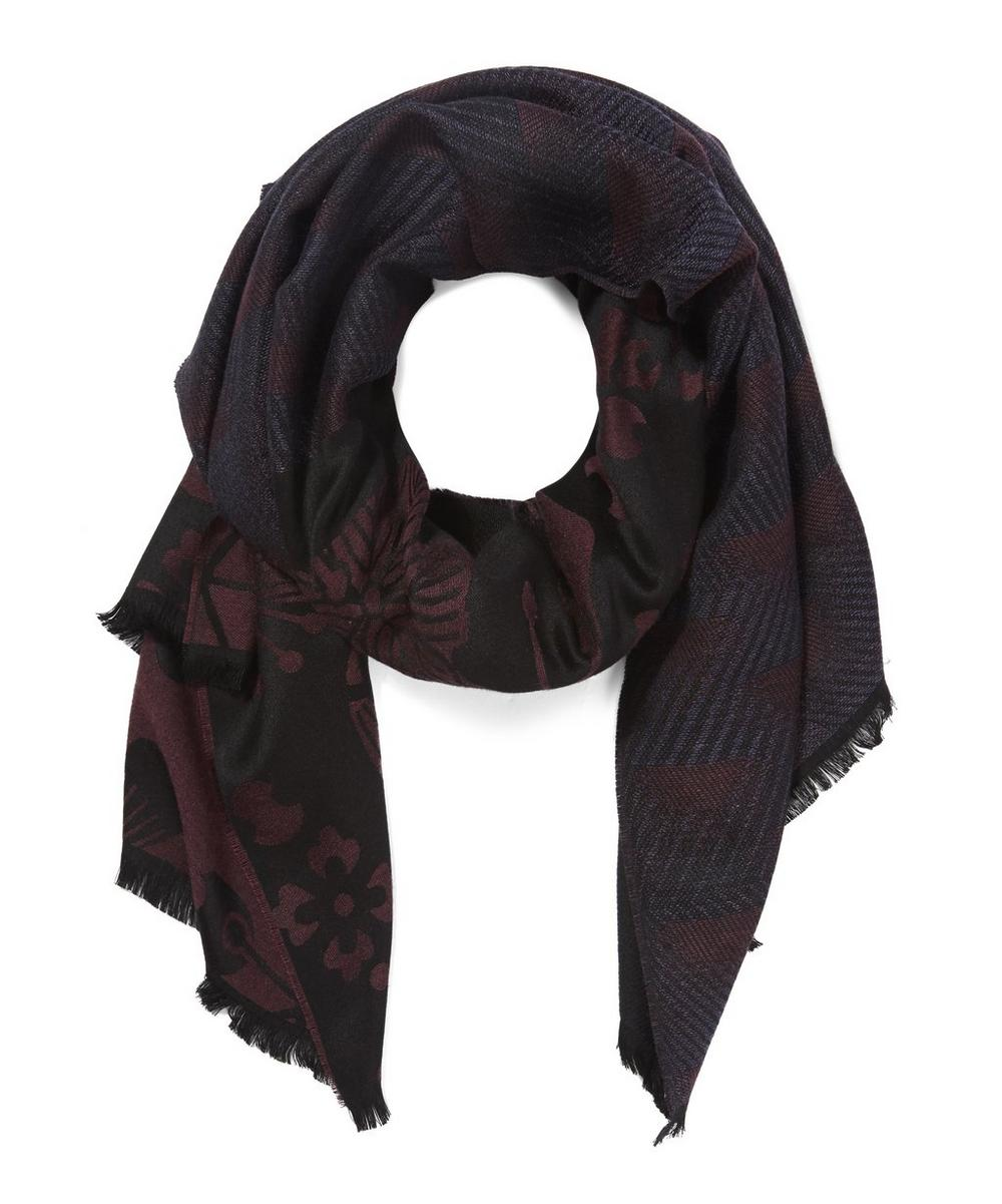 Floral Printed Double Face Scarf