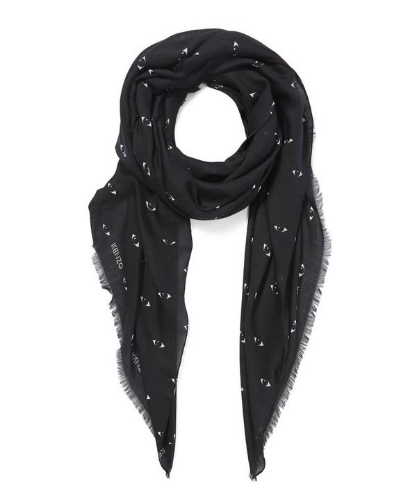 Iconic Eyes Printed Modal Scarf