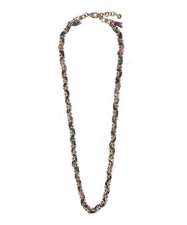 Lulu x Liberty Silk Woven Plaza Chain Necklace