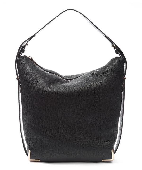 Grained Leather Prisma Skeletal Hobo Bag
