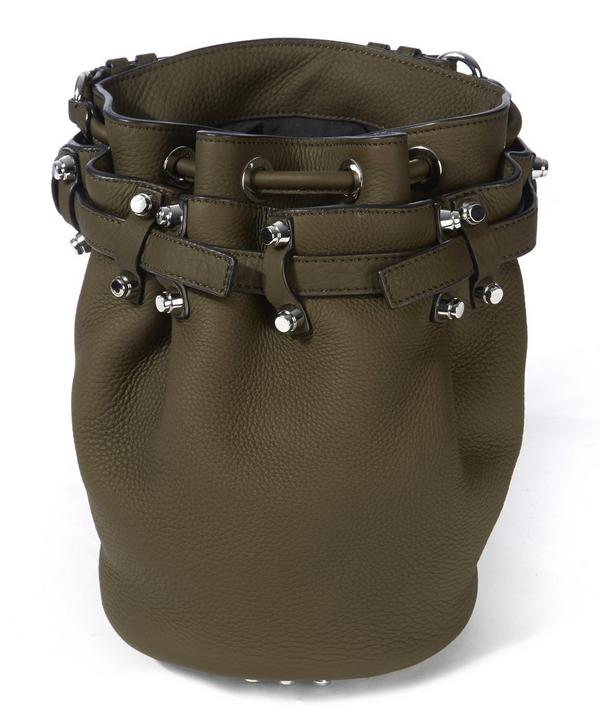 Diego Small Grass Bucket Bag