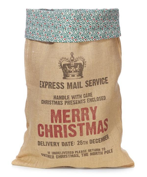 Juniper Trimmed Christmas Present Sack