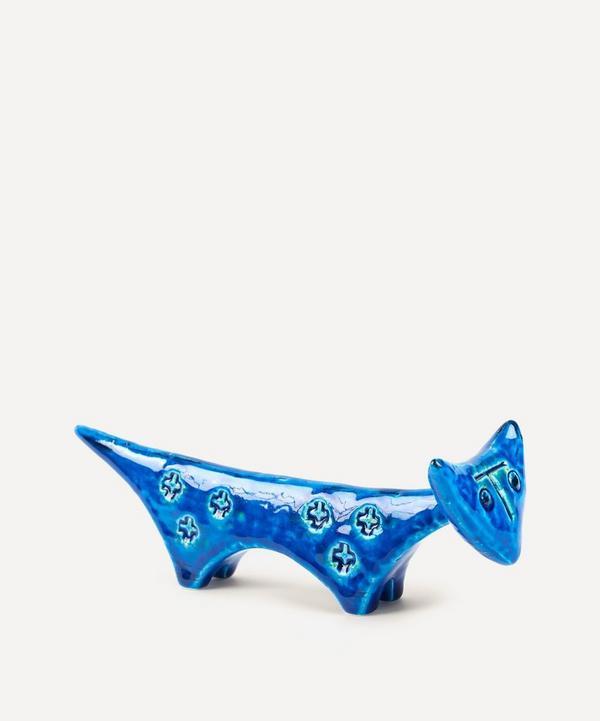 Rimini Blu Ceramic Cat Figure