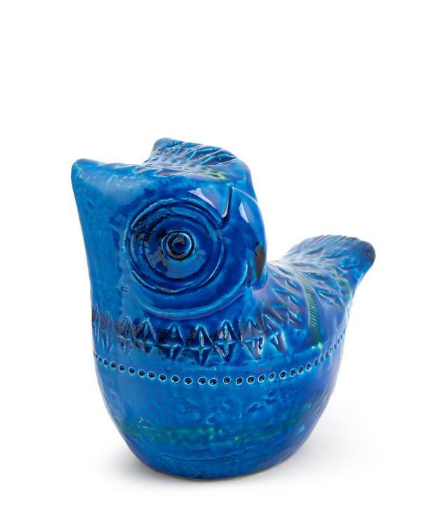 Rimini Blu Ceramic Owl Figure