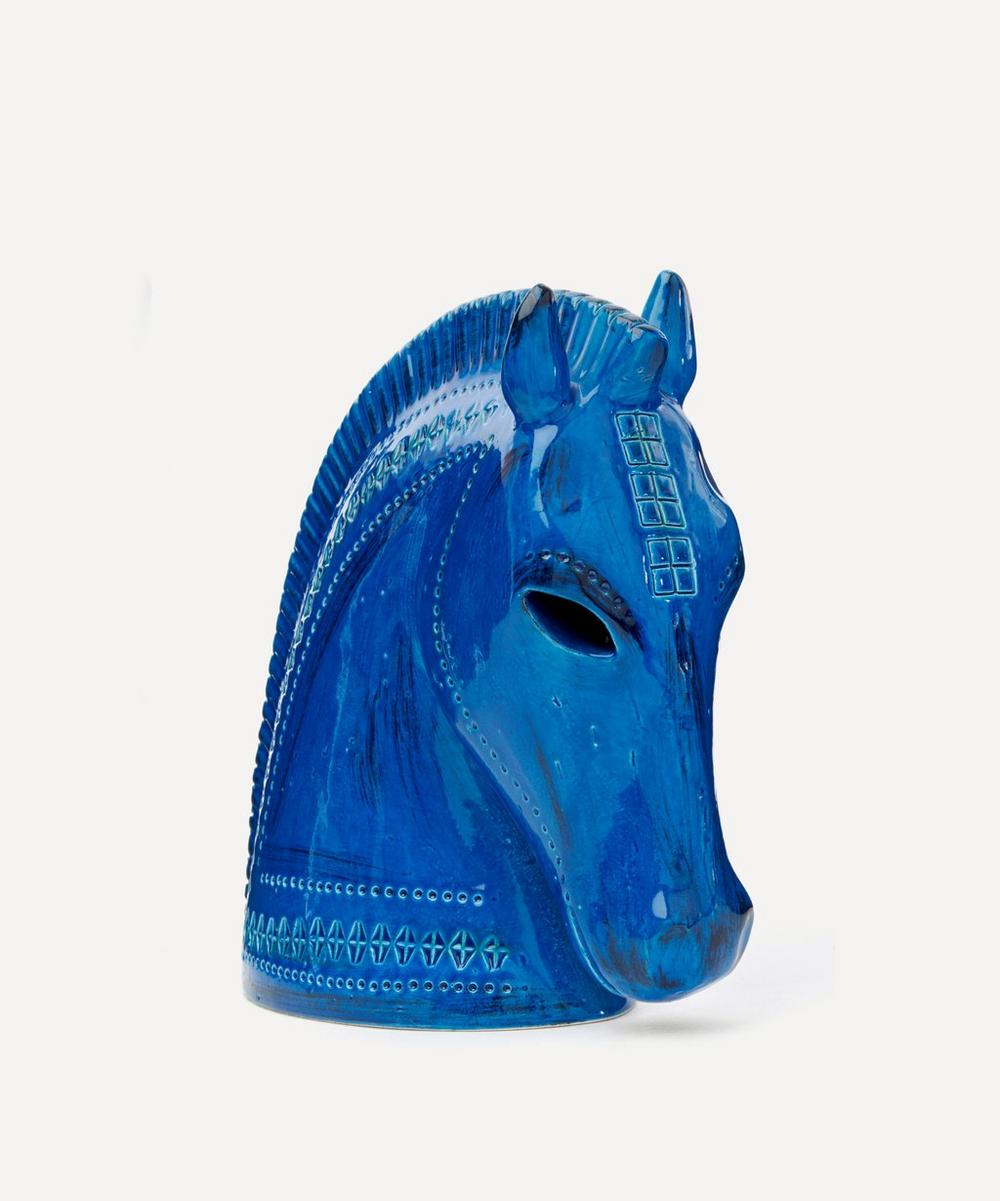 Rimini Blu Ceramic Horse Head
