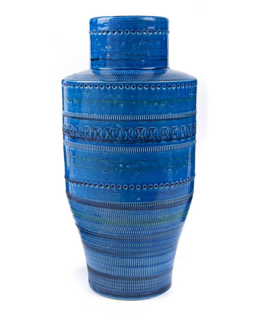 Rimini Blu Ceramic Amphora Style Vase