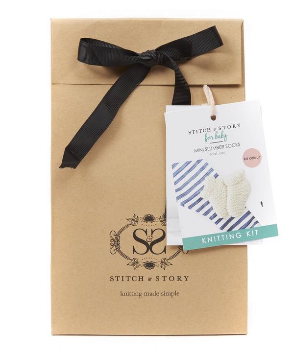 For Baby Mini Slumber Socks Knitting Kit