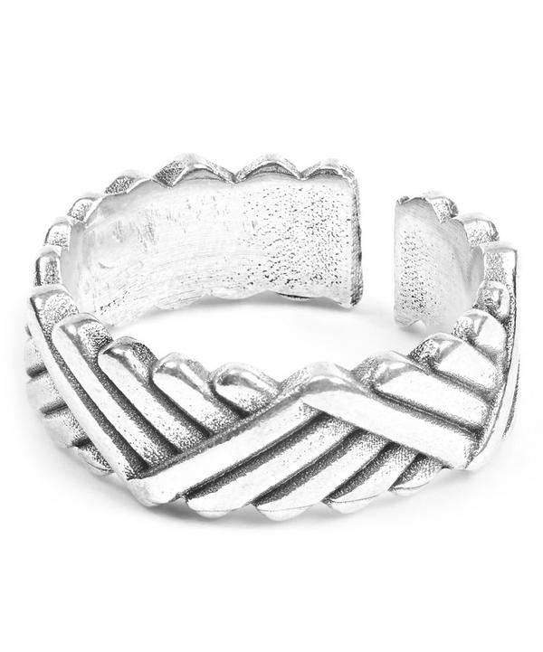 Diagonal Patterned Ben Ring
