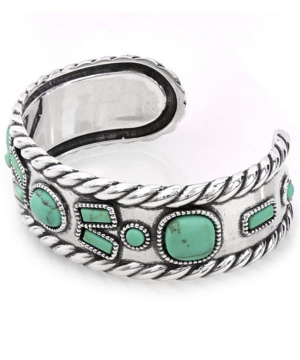 Silver Lakota Stone Cuff