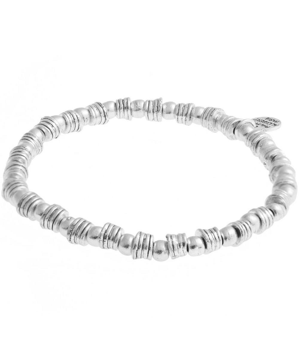 Silver Beaded Elasticated Bracelet