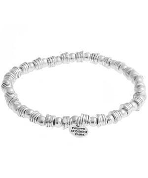 Silver Beaded Elasticated Bracelet