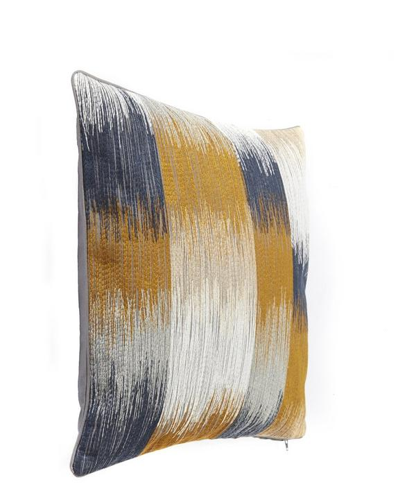 Embroidered Stripe Cushion