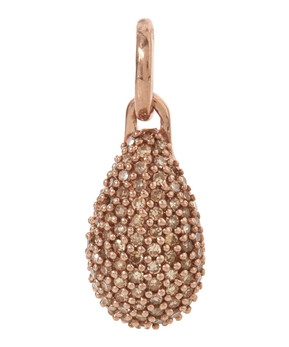 Rose Gold-Plated Stellar Champagne Diamond Pendant