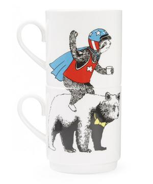 Sloth and Bear Two Cup Set