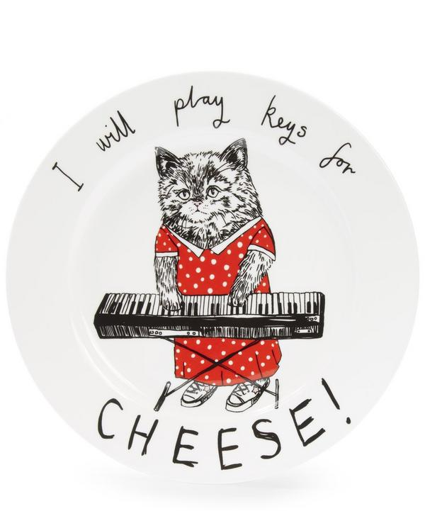 I Will Play Keys For Cheese Cat Side Plate
