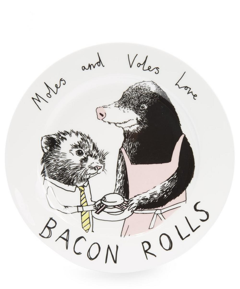 Moles and Voles Love Bacon Rolls Side Plate