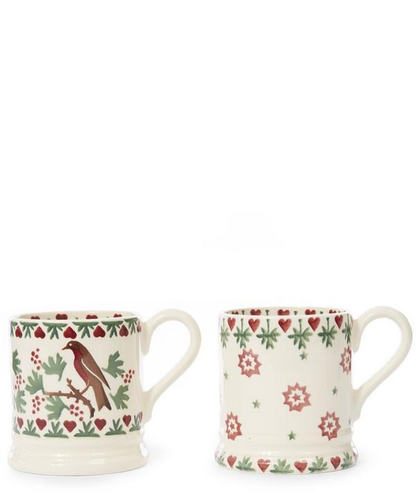 Set of Two Joy Robin Half Pint Mugs