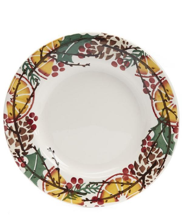 Holly Wreath 8.5 Inch Plate