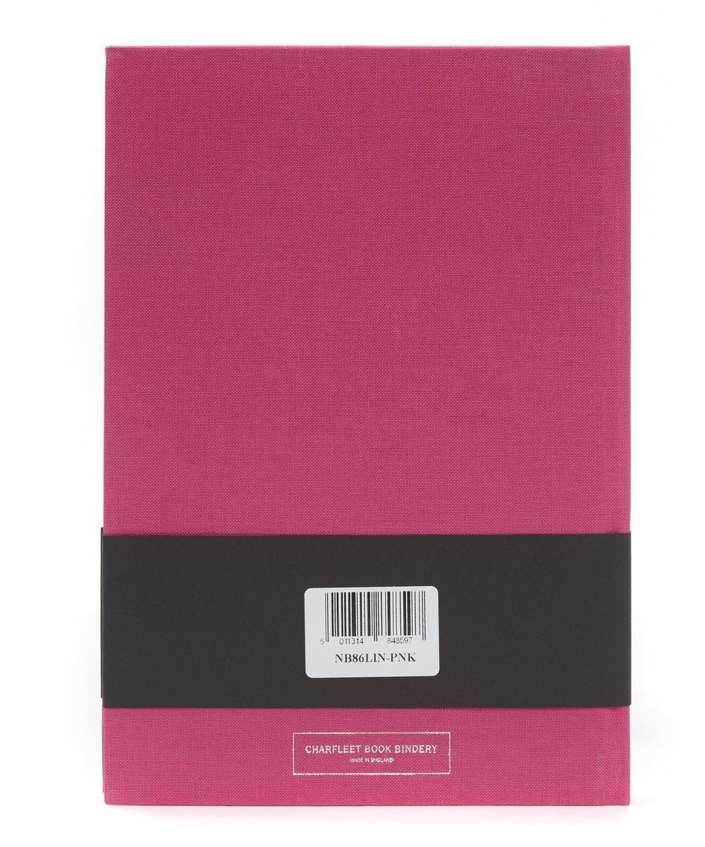 Pretty In Pink Linen Cover Notebook